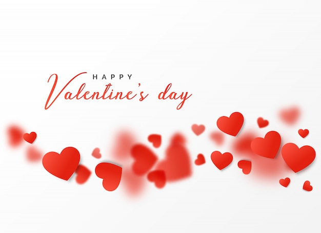 Glückliches valentinstagkartenentwurf mit sich hin- und herbewegenden herzen