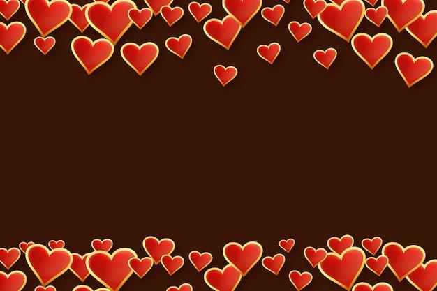 Glückliches valentinstagromantik-grußkartendesign