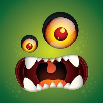 Glückliches verrücktes monster halloweens