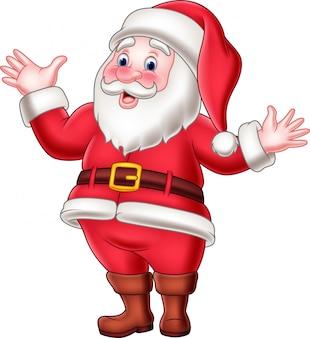 Glückliches weihnachtsmannwellenartig bewegen der karikatur