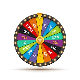 Glücksrad lotterie glück illustration. casino glücksspiel. gewinnen sie glücksroulette. glücksspiel chance freizeit
