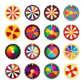 Glücksräder. logo-set für glücksspiele.