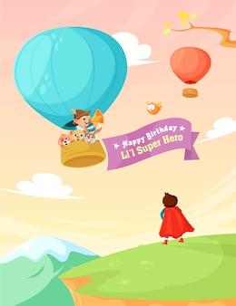 Glückwunschkarte für kinder vektor-illustration