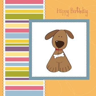 Glückwunschkarte mit hund