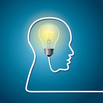 Glühbirne als ideensymbol. vektor-illustration