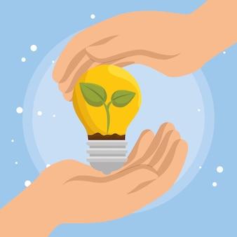 Glühbirne energie ökologie symbole
