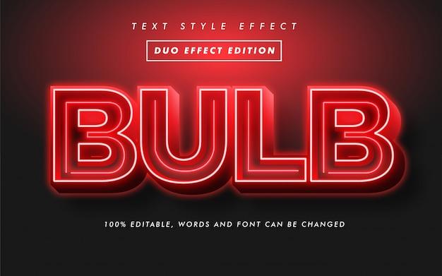 Glühbirne fettgedruckter textstil-effekt