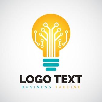 Glühbirne form logo