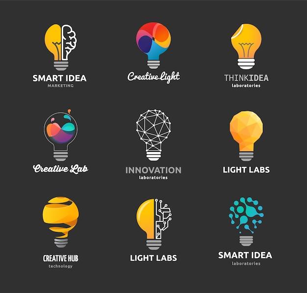 Glühbirne - ideen-, kreativ-, technologie-ikonen