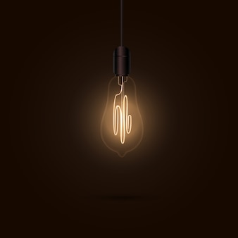 Glühbirne in der dunkelheit