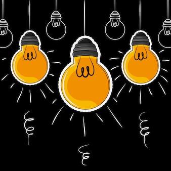 Glühbirne leuchtet cartoons