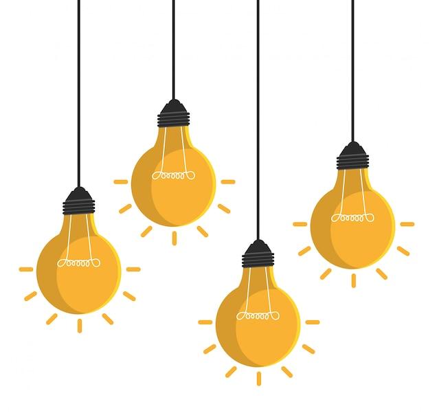 Glühbirne licht isoliert symbol