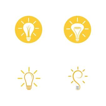 Glühbirne symbol vektor design illustration
