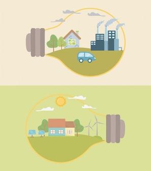 Glühbirne und energie sparen