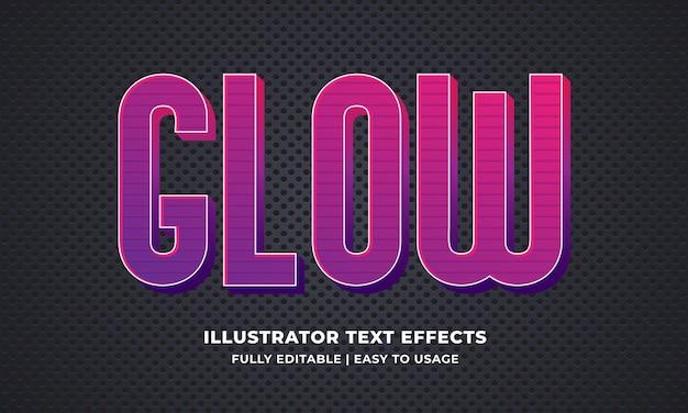 Glühen bearbeitbarer texteffekt