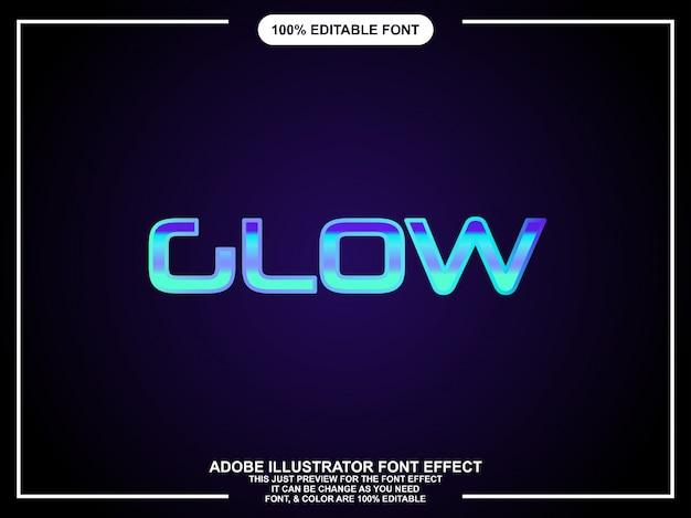 Glühen grafikstil illustrator bearbeitbare typografie
