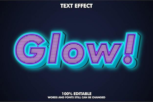 Glühen sie texteffekt mit reicher textur