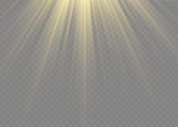 Glühen sie transparentes licht platzen.