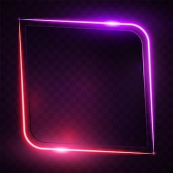 Glühende abstrakte purpurrote fahnendesign