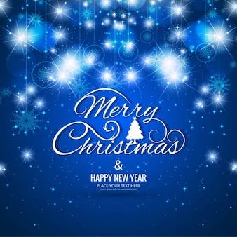 Glühende blaue weihnachten hintergrund