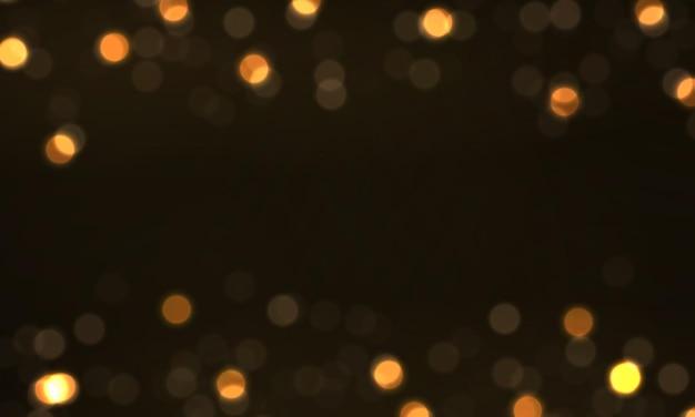 Glühende bokeh-lichter, die sternsonnenpartikel funken, funken mit lens flare-effekt weihnachtsstaub
