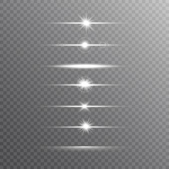 Glühende linie eingestellt auf transparenten hintergrund