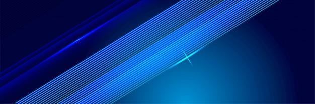 Glühende linien hintergrund der blauen technologie