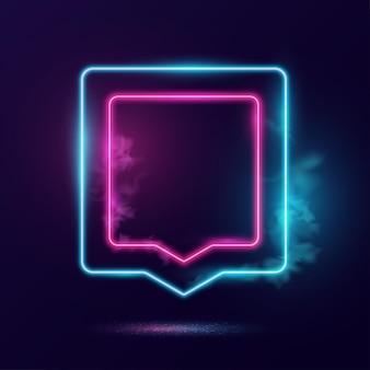 Glühende neonlichtrahmenillustration