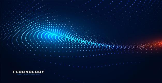 Glühende partciles technologieteilchen greifen hintergrund ineinander