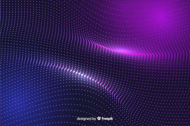 Glühende partikel des abstrakten hintergrundes