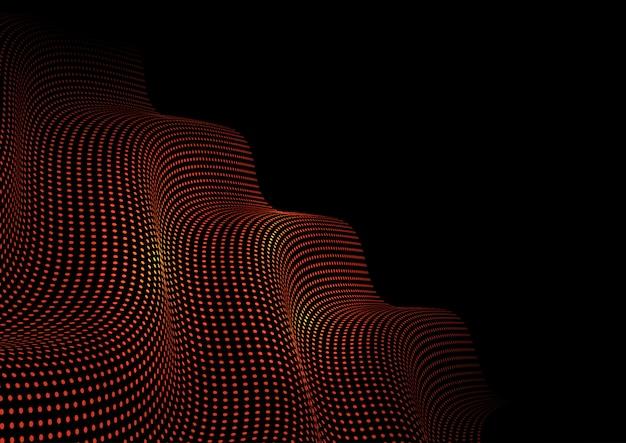 Glühende punkte techno abstrakter hintergrund