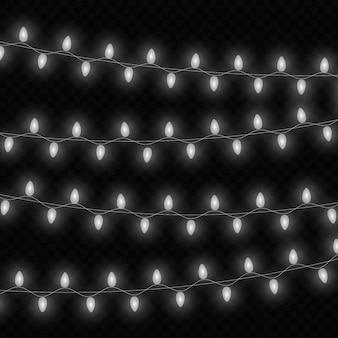 Glühende weihnachtsbeleuchtung