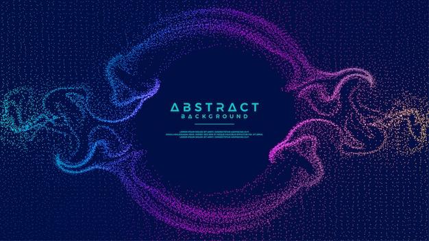 Glühender abstrakter partikelflusshintergrund.