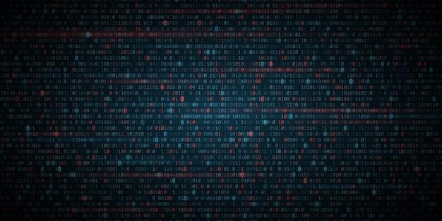Glühender binärer software-code-hintergrund.