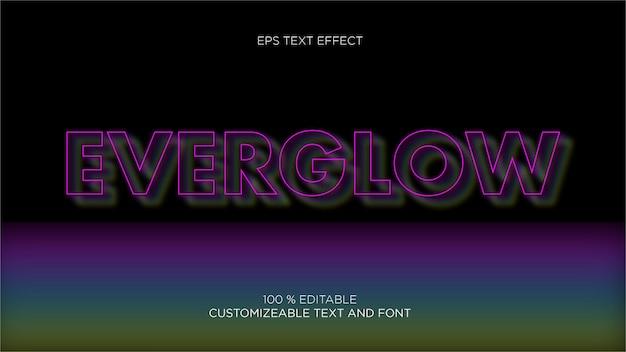 Glühender editbale eps-texteffekt