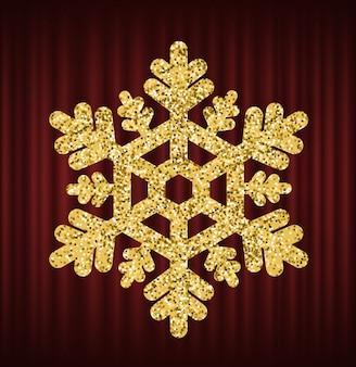 Glühender eis-glänzender dekorations-vektor der schneeflocke