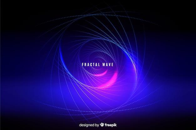 Glühender fractalrasterfeld-wellenhintergrund
