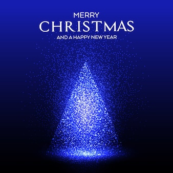 Glühender funkelnder weihnachtsbaum