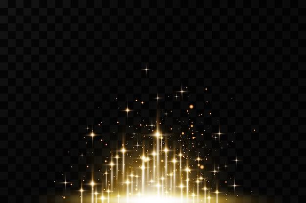 Glühender glänzender weihnachtshintergrund.