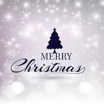 Glühender hintergrund der frohen weihnachten