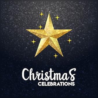 Glühender hintergrund der stern-frohen weihnachten