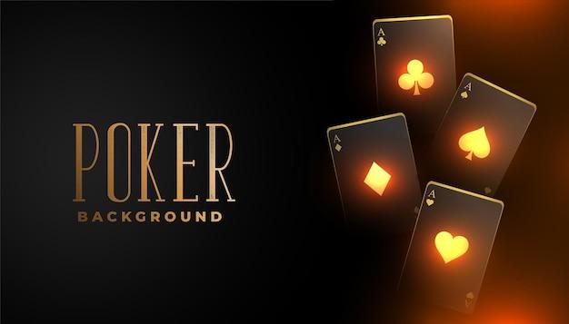 Glühender kasino-spielkartenhintergrund
