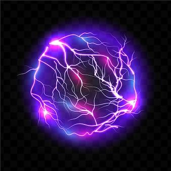 Glühender lichteffekt der elektrischen kugel