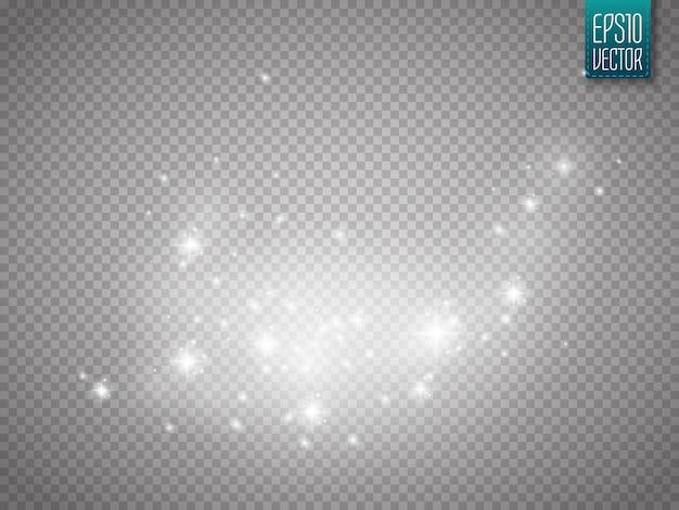 Glühender lichteffekt mit den funkelnpartikeln lokalisiert