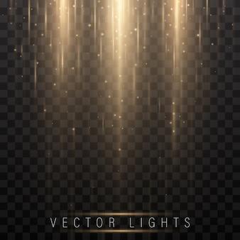 Glühender magischer lichteffekt und feuerbewegung mit langen spuren.