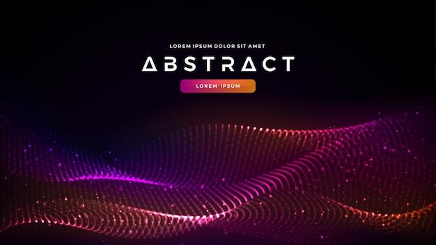 Glühender moderner abstrakter flüssiger flusspartikelhintergrund.
