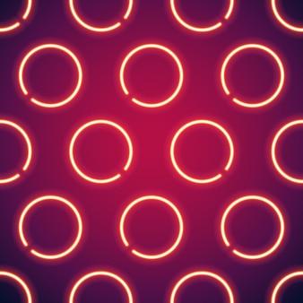 Glühender neon kreist nahtlosen hintergrund ein