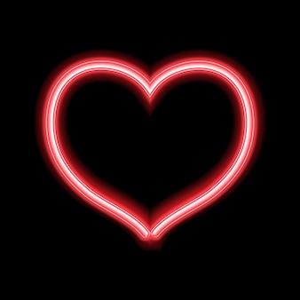 Glühender neonherzentwurf für valentinstag