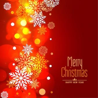 Glühender schneeflocken-feiertagshintergrund der frohen weihnachten
