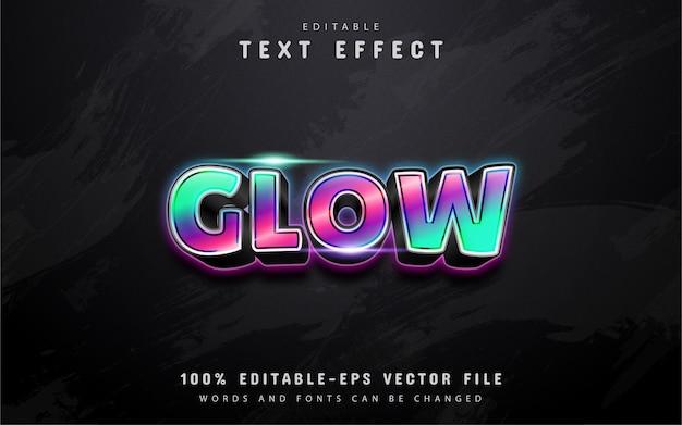 Glühender text, bunter verlaufstext-effekt